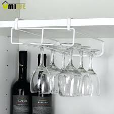 stainless steel wine rack new glasses holder goblet kitchen bar wall hanging champagne racks uk