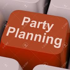 Party Planning Key Showing Celebration Organization Online Stock