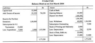 sample balance sheet for non profit accounts of non profit organisation an overview