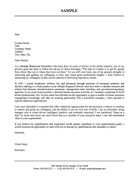 Human Resources Executive Cover Letter Sample Cover Letter Hr