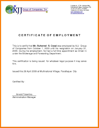 Certificate Of Employment Template My Future Template