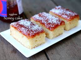 Honey Cake Recipe How To Make Eggless Bakery Style Honey Cake