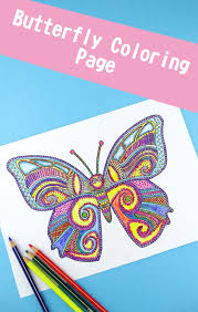 Butterfly Coloring Page For Adults Trail Of Colors