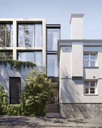 facade of domain road property juxtaposing old and new