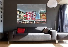 ready to hang photography wall art pike place market public market center sign seattle wa mounted fine art photo print by rmuphoto on etsy on wall art seattle wa with ready to hang photography wall art pike place market public market