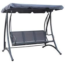 three seater swing seats outdoor furniture. 3-seater-outdoor-swing-seat-bench-with-canopy- three seater swing seats outdoor furniture