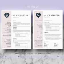 Medical resume template Archives - Hired Design Studio