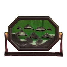 3d creative moving sand glass art picture frame desk craft
