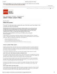 Pdf 1 14 2014 Debt Free Cash Free Acca Global Suraj