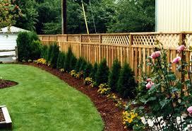 Amazing of Backyard Fence Landscaping Ideas Backyard Fence Landscaping  Ideas Fence Line Garden Ideas
