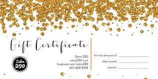 gift certificate salon  gift certificate