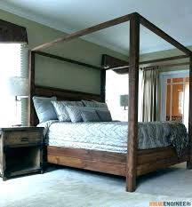 Cal King Canopy Bed King Canopy Bed Frame Size Discount Home ...