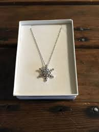 kay jewelers sterling silver diamond snowflake necklace