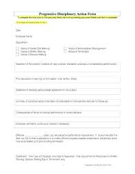 Disciplinary Action Form Employee Write Up Sample Pdf Plate