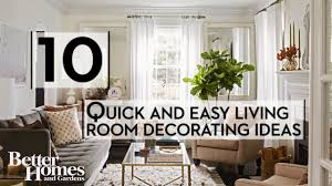 Quick And Easy Living Room Decorating Ideas YouTube - Easy living room ideas