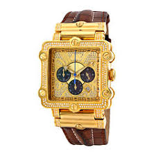 men s watches for jewelry watches jcpenney jbw phantom mens 2⅜ ct t w diamond square brown leather strap watch jb 6215