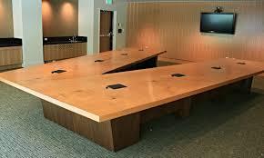 custom office tables. Square Edge Fir V-shaped Conference Table With Data Custom Office Tables