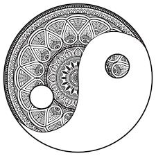 Mandala Yin Et Yan Par Snezh Mandalas Coloriages Difficiles