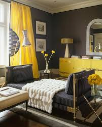 beautiful design yellow decor bedroom hot color combo yellow gray