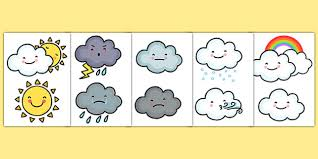 Weather Chart Template For Construction Weather Symbol Cut Outs Ks1 Weather Resources