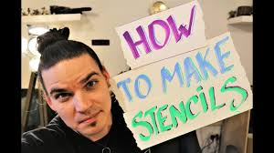 Stencil Spraypaint How To Make Stencils For Spray Paint Art Youtube