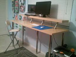 IKEA Hackers: Wide Standing Desk idea, but it costs more to put together  than they mentioned.
