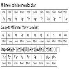 21 Veritable Ear Gauge Measurement Chart