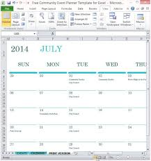 Free Community Event Planner Template For Excel 203908677127