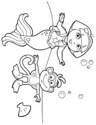 dora mermaid coloring pages printable coloring pages dora and friends mermaid coloring pages