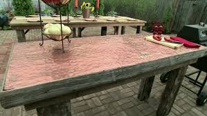 diy outdoor table. Diy Patio Plans And Outdoor Table With Stone Ideas Plus How To Build A Brick Pavers Together Cheap