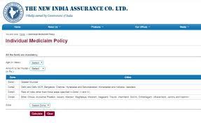 New India Mediclaim Policy 2018 Premium Chart New India Assurance Company Limited Premium Calculator