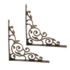 2pcs l shape wall mounted shelf bracket