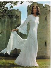 Crochet Wedding Dress Pattern Extraordinary Crochet Wedding Dress Pattern EBay