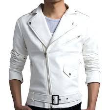 biker jacket men new white leather design motorcycle stylish er denim mens india