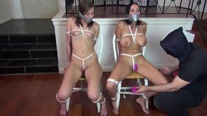 Bondage daughter tied up and gagged
