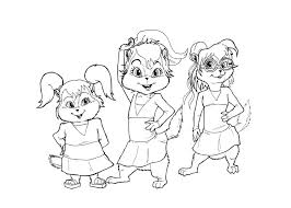 Small Picture Alvin and the chipmunks coloring pages brittany singing ColoringStar