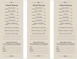 Survey Cards Templates Restaurant Survey Card Under Fontanacountryinn Com
