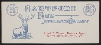Find the best auto insurance in connecticut: Trade Card For The Hartford Fire Insurance Company Hartford Connecticut 1916 Historic New England