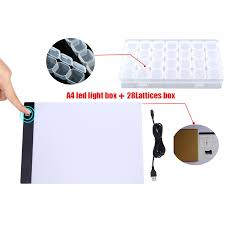 Light Painting Tools Uk Us 3 19 42 Off Dimmable A4 Led Light Pad Tablet Diamond Painting Tools Diamond Embroidery Diamont Accessories For Diamond Painting Full Drill In