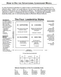 the situational leadership model essay coursework academic  the situational leadership model essay