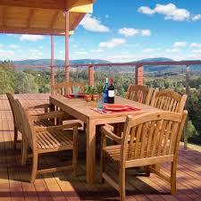 ia oslo 7 piece teak patio dining set