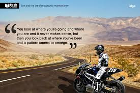 Motorcycle Quotes Stunning Book Quotes Zen And The Art Of Motorcycle Maintenance Ixigo
