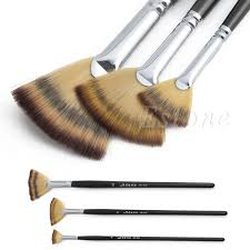 3 size fan brush pen set wooden handle acrylic water oil painting artist brushes drawing pen in pen refill from office school supplies on aliexpress com