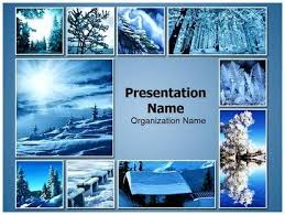 photo collage template powerpoint download winter snowfall collage powerpoint template for your