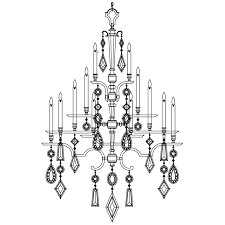 fine art lamps 714040 3 encased gems extra large 24 light silver crystal chandelier with all clear gems fin 714040 3