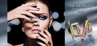 beautiful estee lauder model wearing estee lauder the metallics new pure color makeup for beautiful makeup adetallics makeup advers