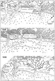 8 U S Coast And Geodetic Survey Coastal Charts Illustrate