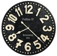 24 inch wall clock miller street 24 outdoor wall clock