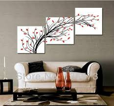 wall paintings for living room handmade simple abstract painting 3 piece wall art set modern oil
