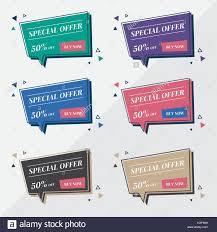 Word Bubble Templates Flat Sale Banner Design Templates In Memphis Retro Style